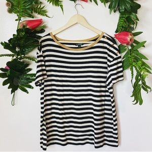 Lauren Ralph Lauren striped blouse ✨size XL
